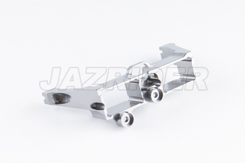 Jazrider Aluminum Rear Bumper Mount For Traxxas TRX-4 RC Crawler Gun Metal
