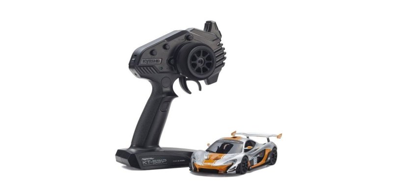 Kyosho 32324SO - MINI-Z RWD McLaren P1TM GTR Silver/Orange Readyset RTR