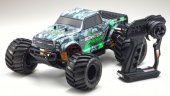 Kyosho 34403T1 - 1/10 Monster Tracker (Green) Monster Truck 2WD R/S EP Readyset RTR