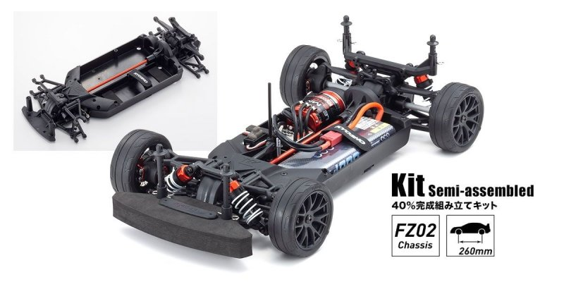 Kyosho 34441 - 1:10 Scale Radio Controlled Electric Powered 4WD FAZER Mk2 2020 Mercedes-AMG GT3 (FZ02 Chassis Kit)