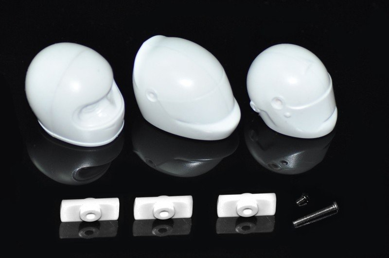 Serpent 170328 Helmet set for F1 1/10 Bodies (3)