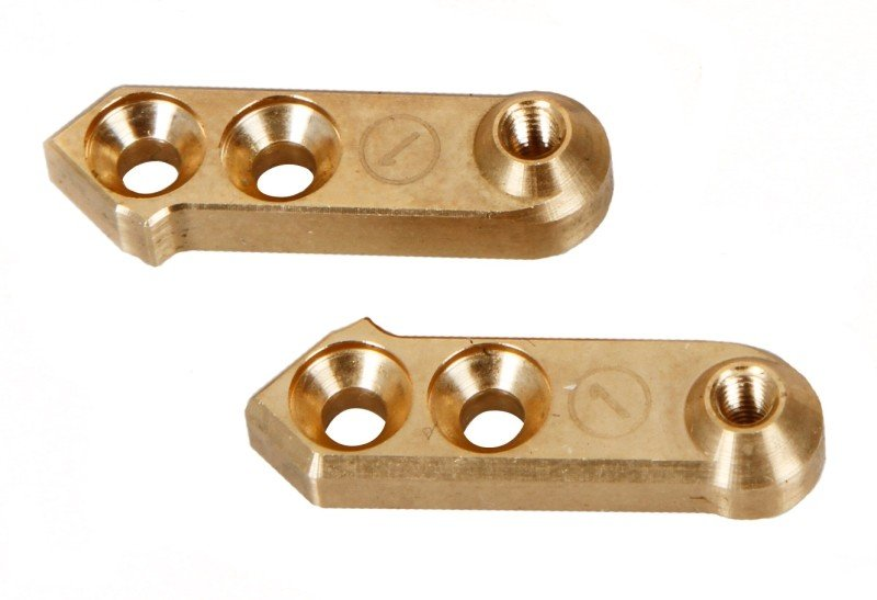 Serpent 500287 Steering arm nr 1 Brass L+R