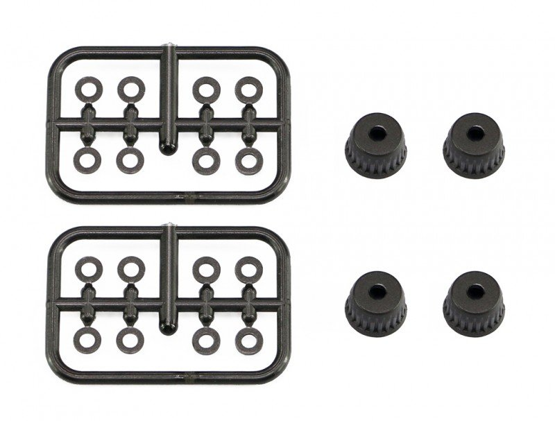 Serpent 500651 Shock travel limiter 0 75 (8) + 1.25 (4) + caps (4) SRX
