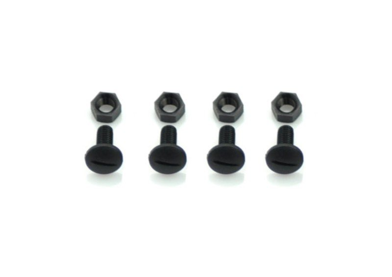 Serpent 110181 Screw M5x10 + Nut  nylon black (4+4)
