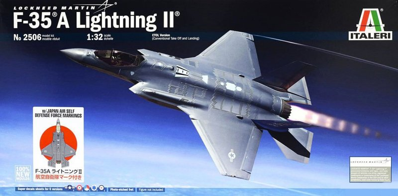 Tamiya 25414 - 1/32 F-35A Lightning II with JASDF Markings (Italeri 2506)