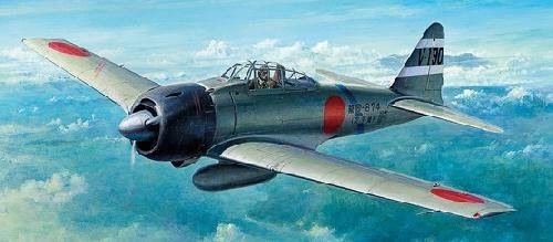 Tamiya #60784 - 1/72 Mitsubishi A6M3 Zero Fighter Model 32 (Hamp)