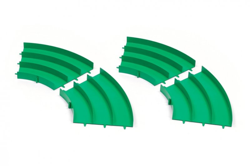 Tamiya #95491 - Curve Section Set (Green, 4 Pcs.)