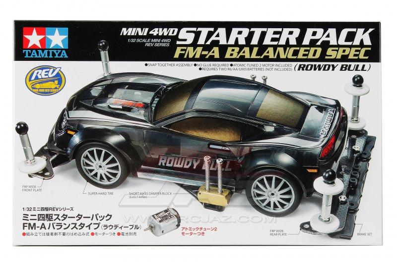 Starter Pack FM-A Balanced Spec Rowdy Bull Mini 4wd Model TAMIYA