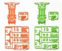 Tamiya #94904 - SuperII Fluorescent Chassis Orange/Green