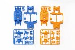 Tamiya #95386 - MS Chassis Set (Light Blue/Orange) Mini 4WD Product