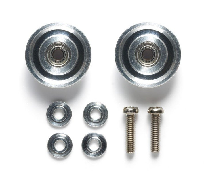 Tamiya #95497 - HG 13mm All Aluminum Bearing Roller (Tapered)
