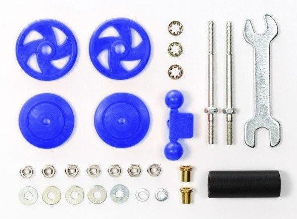 Tamiya #95430 - Large Diameter Stabilizer Head Set (17mm) (Blue)