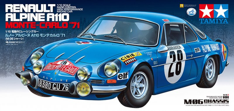 Tamiya 58591 110 Rc Renault Alpine A110 Monte Carlo 1971 M06 S