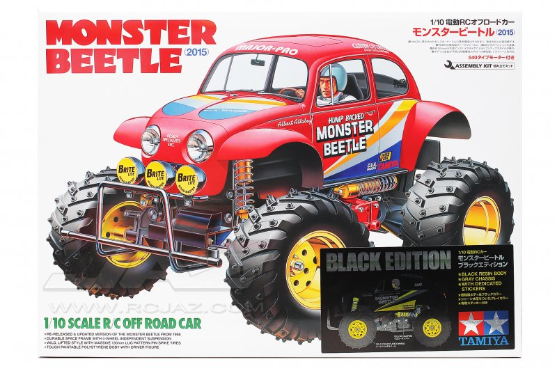 Tamiya #47419 - Monster Beetle (2015) Black Edition (Black Body, Black Chassis)
