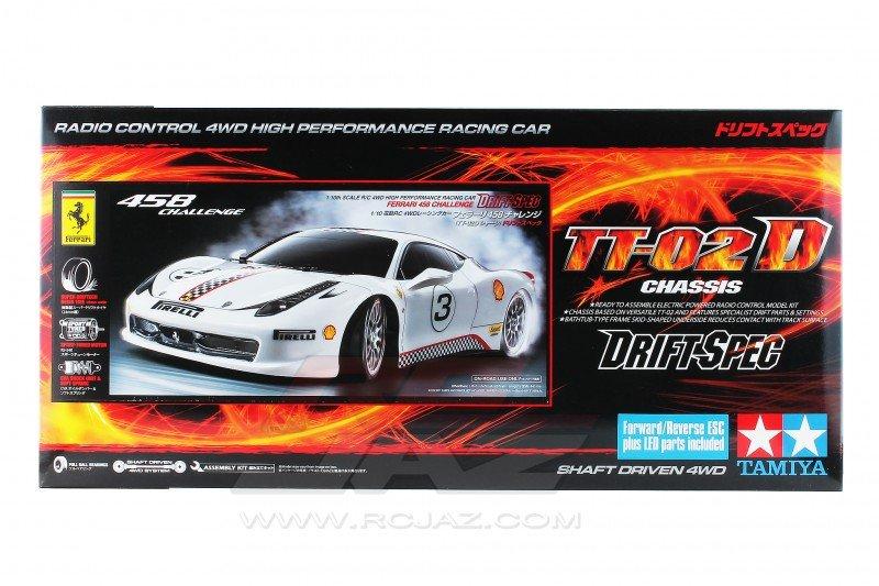 Tamiya 93042 1//10 RC Ferrari 458 Challenge TT02D Drift Spec