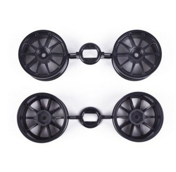 Tamiya #9335732 - TT02 Raybrig NSX Concept-GT Wheel Bag (Black, 26mm, 4pcs ) for 58599