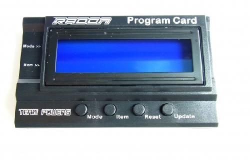 Team Powers Radon Series Program Card