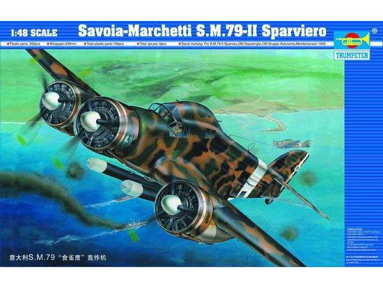 Trumpeter 02817 Savoia-Marchetti S.M.79-II Sparviero WWII