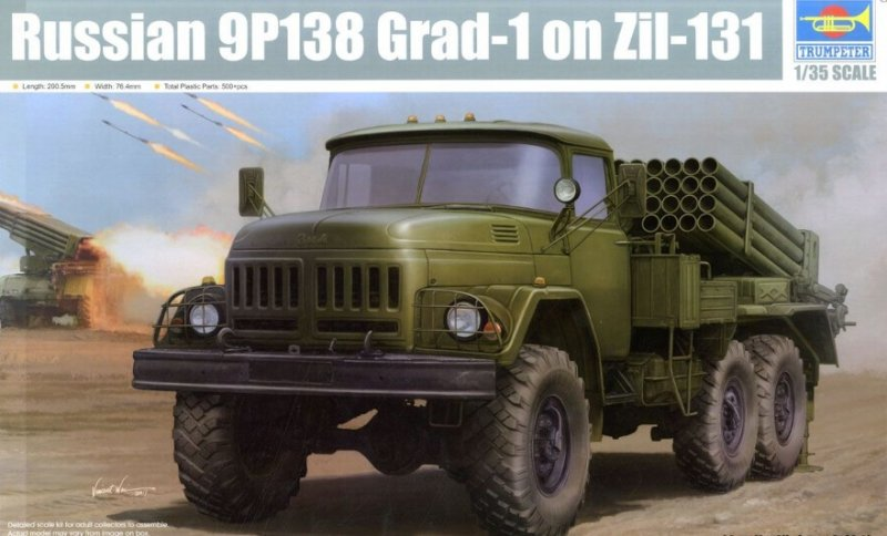 Trumpeter 01032 - 1/35 Russian 9P138 Grad-1 on Zil-131