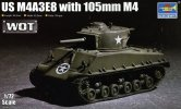 Trumpeter 07168 - 1/72 US M4A3E8 Sherman with 105mm M4