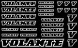 Volante Decal, Black