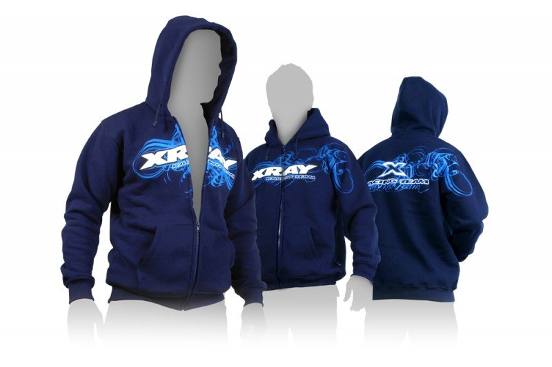 XRAY 395600XS Sweater Hooded with Zipper - Blue (XS)
